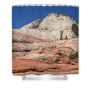 Zion Park - Rock Texture Shower Curtain