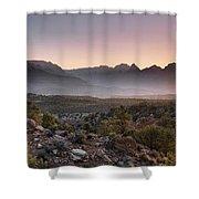 Zion Sunrise Shower Curtain