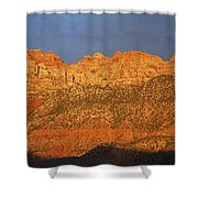 Zion Sunset Panorama Shower Curtain