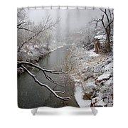 Zion's Virgin River Shower Curtain