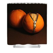 Zipped Oranges Shower Curtain