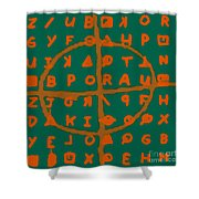 Zodiac Killer Code And Sign 20130213p28 Shower Curtain