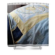 Zodiac Patchwork Quilt Shower Curtain by Barbara Griffin