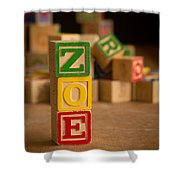 Zoe - Alphabet Blocks Shower Curtain