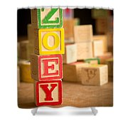 Zoey - Alphabet Blocks Shower Curtain