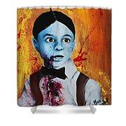 Zombie Alfalfa Shower Curtain
