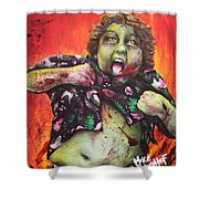 Zombie Chunk Shower Curtain