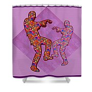 Zombie Funny Comic Cartoons Dance Zombie Dance Grand   36x12 Horizontal Landscape Energy Graphics Ba Shower Curtain