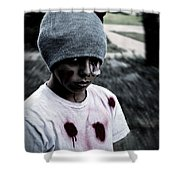 Zombie Kid Shower Curtain