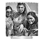 Zombie Run Nola 19 Shower Curtain
