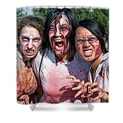 Zombie Run Nola 24 Shower Curtain