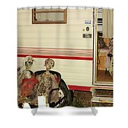 Skeleton Family Vacation Shower Curtain