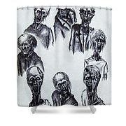 Zombies Shower Curtain