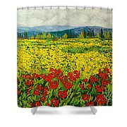 Zone Des Fleur Shower Curtain