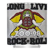 Zoo 98 Elephant Rock And Roll Shower Curtain