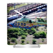 Zoo Flying Shower Curtain by Paul Job