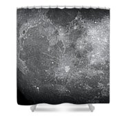 Zoom In Moon Shower Curtain