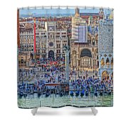 Zoom On St Marks Square Venice Italy Shower Curtain