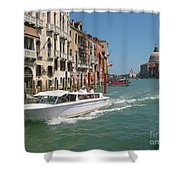 Zooming On The Canals Of Venice Shower Curtain