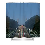 Zoomy Pic Of The Plaza State Capital Pa Shower Curtain