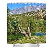Zrmanja River And Velebit Mountain Shower Curtain