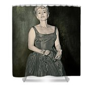 Zsazsa Gabor In The 1950's Shower Curtain