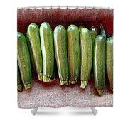 Zucchinis Shower Curtain