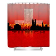 Zurich City Shower Curtain