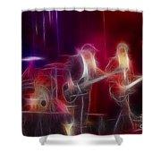Zz Top-rhythmeen-c23-fractal-4 Shower Curtain