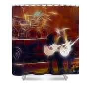 Zztop Recycler Group Fractal Shower Curtain