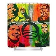 4 Barack  Shower Curtain