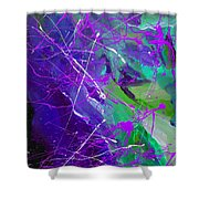 4th Symphony Of The Voyage Of The Stars Shower Curtain