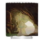 A Grotto In The Gulf Of Salerno - Sunset Shower Curtain
