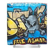 Abstract Permission Graffiti Wall Shower Curtain