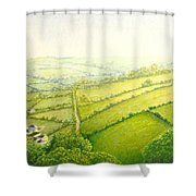 ... And Think Of England. Shower Curtain