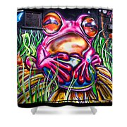 Atomic Frog Shower Curtain
