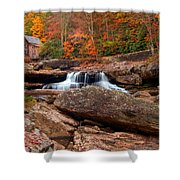 Autumn Leaves At The Mill Shower Curtain