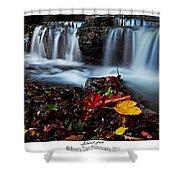 Autumnal Falls Shower Curtain