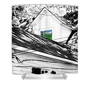 Beauregard Attic Baton Rouge Shower Curtain