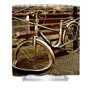 Bicycle Breakdown Shower Curtain