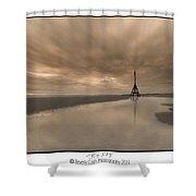 Big Sky - Channel Marker Shower Curtain