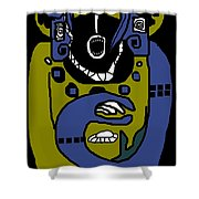 Blue Kachina Shower Curtain