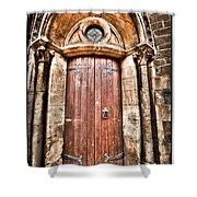 Bronze - Old Door Shower Curtain