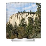 Canadian Rocky Mountain Hoodoos Bc Shower Curtain