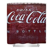 Coca Cola Memorbelia Shower Curtain