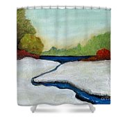 Early Winter Shower Curtain