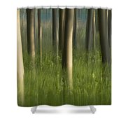 Green Alameda  Shower Curtain