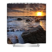 Hartland Quay  Shower Curtain
