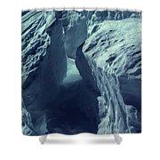 Ice Snow In Austria Mountain   Shower Curtain