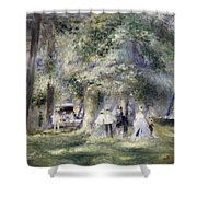 In The Park At Saint-cloud Shower Curtain